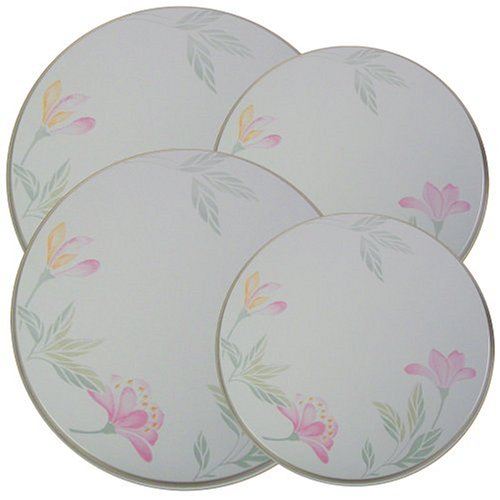 Decorative Trio (Corelle Coordinates by Reston Lloyd Electric Stovetop Burner Covers, Set of 4, Pink Trio)
