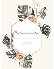 2022 Planner : Dated Weekly 12 Month Planner | Notes | Password Log | Vision Board | Boho Floral Watercolor Planner | Large 8.5 x 11 | 74 Pages | Christmas Gift For Women; Gift For Mom | LL PAPER CO.