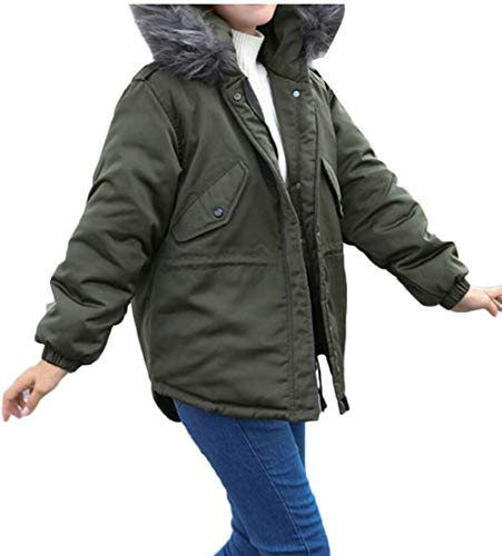 Caldi Cappotti Pelliccia Di 1 Ttyllmao Outwear Faux Parka Giacche Incappucciati Donne RqnFxwI4
