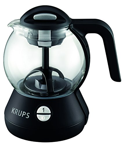 - KRUPS FL7028 Personal Glass Tea Kettle with Integrated Infusion Basket, 1-Liter, Black