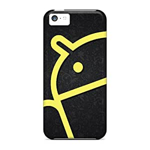Top Quality Cases Covers For Iphone 5c Cases With Nice Android In Yellow Appearance