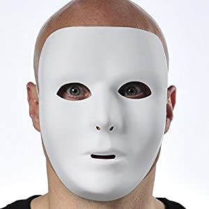 - 41XT810swTL - Amscan Full Face Mask, Party Accessory, White