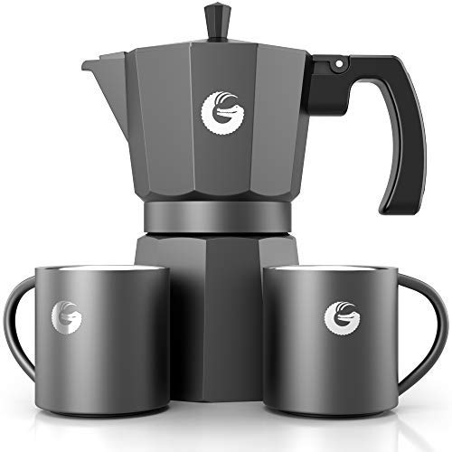 Coffee Gator Espresso Moka Pot - Stovetop Brewer Plus 2 Thermal Cups - 12 Ounce by Coffee Gator (Image #8)