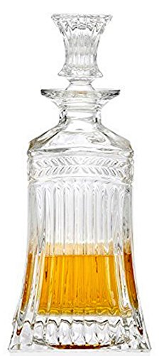 Circleware Empire Elegant Liquor Scotch Brandy Bourbon Wine Whiskey Decanter, Best Gift Drink Beverage Dispenser Pitcher Carafe with Glass Stopper, 709ml. Clear by Circleware