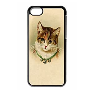 taoyix diy Hard back case with Vintage Cat theme for iPhone 5c