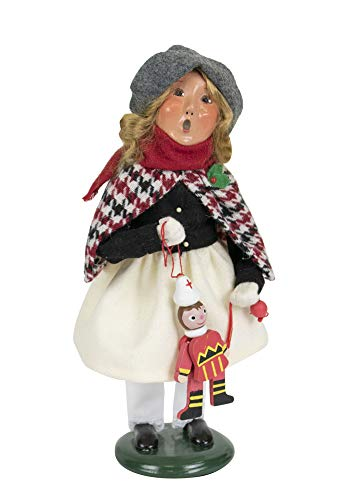Byers' Choice Girl Holding Toy Caroler Figurine from The Specialty Characters Collection #4840G (New - Byers Girl Choice