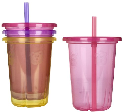 (The First Years Take & Toss Straw Cup - Girl - 10 oz - 4 ct)