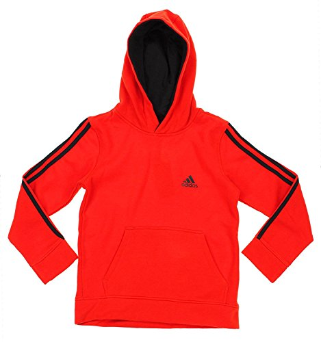 Sweatshirt Pullover Scarlet (Adidas Big Boys Youth Game Time Pullover Fleece Hoodie, Color Options (X-Large (18), Scarlet/ Black))
