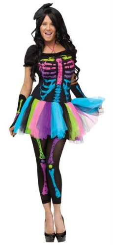 Funky Punk Skeleton Bones Adult Costume ()