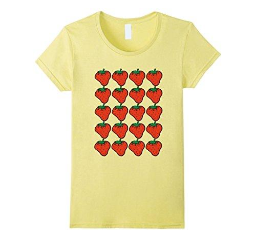 Pick A Little Lady Costume - Womens Halloween Strawberry Costume T-Shirt: Fruit Berries Medium Lemon