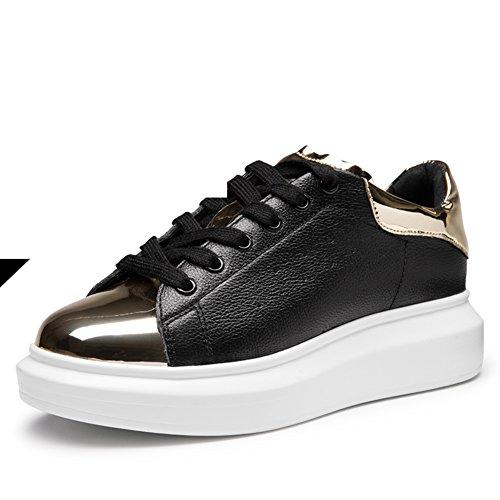 Zapatos de primavera/Color que empareja los zapatos ocasionales/Zapatos del deporte/ zapatillas de suela gruesa/Zapatos del tablero A