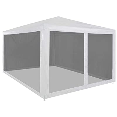 """Unfade Memory Outdoor Canopy Shade Party Tent with 4 Mesh Sidewalls 157.5""""x118.1"""" : Garden & Outdoor"""