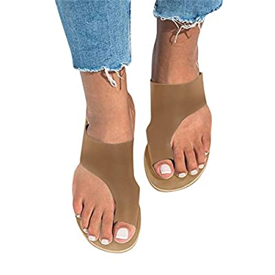Beach Sandals for Women Summer,2020 New Women Comfy Open Toe Platform Sandals Shoes Summer Beach Travel Shoes Comfortable Flip Flop Shoes: Clothing