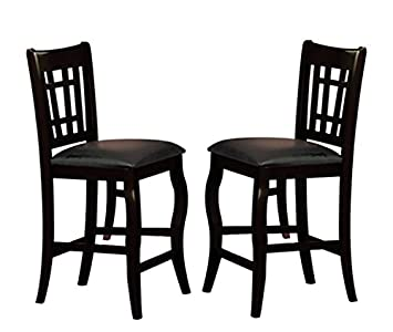 Milton Greens Stars 8728BK Burgos Counter Height Chair, Black, Set of 2