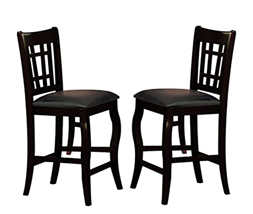Milton Greens Stars Burgos Counter Height Chair, Black, Set of 2
