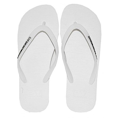 Emporio Armani Ea7 Klassiker Flip Flops, Weiß