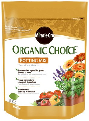 Scotts Soil Potting (Miracle Gro 72978510 8 Qt Organic Choice Potting Mix 0.10-0.05-0.05)