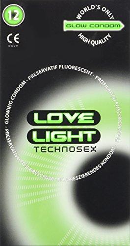 LOVE LIGHT B 12 PRESERVATIF PHOSPHORESCENT