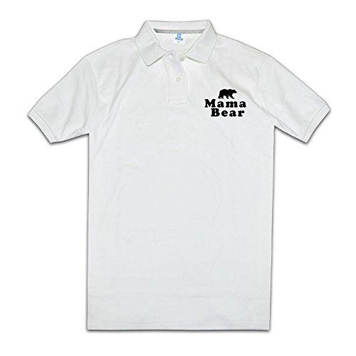 Mama Bear Man Polo Style XXL White