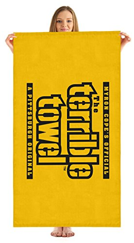 "Pittsburgh Steelers Terrible Towel Beach Towel 30"" x 60"" ( Version) at SteelerMania"