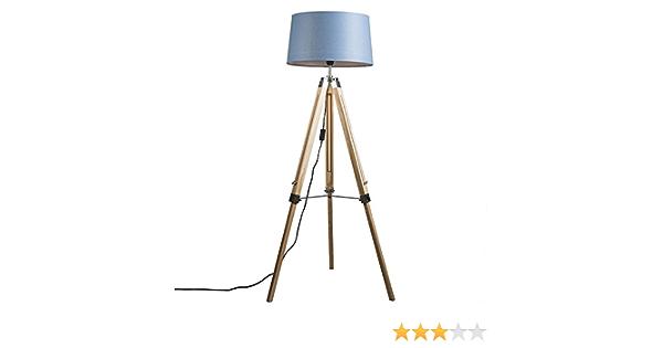 1 x 60 Watt QAZQA Moderno L/ámpara de pie oro//lat/ón pantalla lino blanco 45cm PARTE Acero//Textil Redonda//Alargada//Cil/índra Adecuado para LED Max