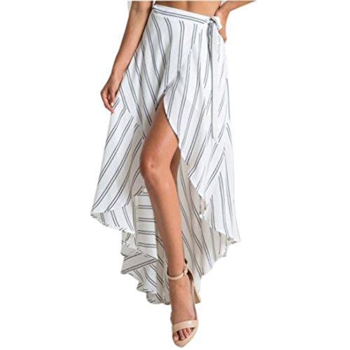 Elaco Women Dress Long Maxi Striped Skirt Summer Beach Sun Dresses Beach