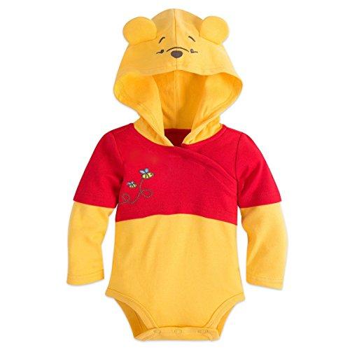 DS Disney Store Winnie The Pooh Halloween Costume Bodysuit Hat Size 3-6 Months