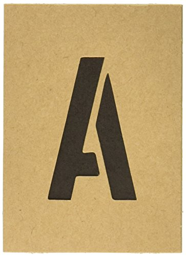 (Hy-Ko ST-2 Number & Letter Stencils, 2 in, TAN)