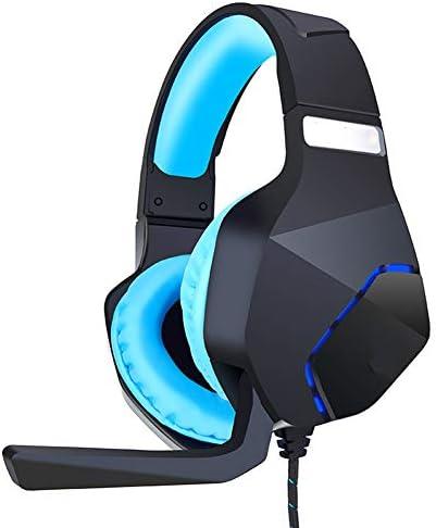 ヘッドマウントゲーミングヘッドセット、USBノイズ低減サラウンドサウンドゲームプレーヤー、50 MM高忠実度、PPTヘッドビーム、マイク付きPS4 / Xbox O
