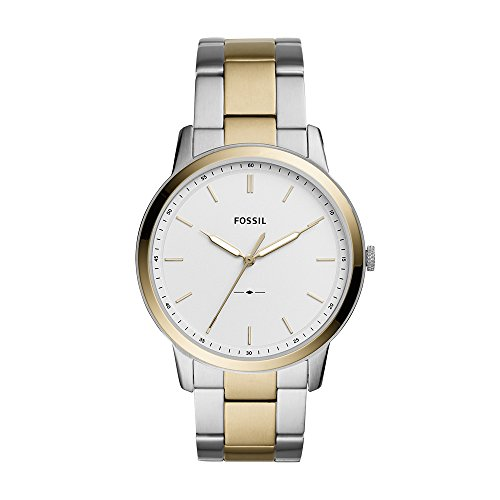 Fossil Men's The The Minimalist 3H Analog-Quartz Watch with Stainless-Steel Strap, Silver, 22 (Model: FS5441)