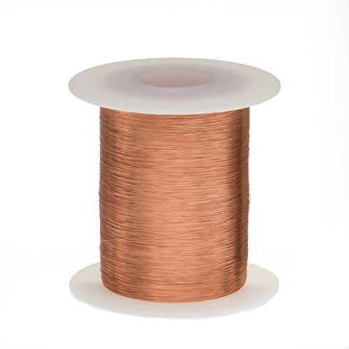 Remington Industries 36SNSP.125 Magnet Wire, Enameled Copper Wire Wound, 36 AWG, 2 oz, 1597' Length, 0.0055