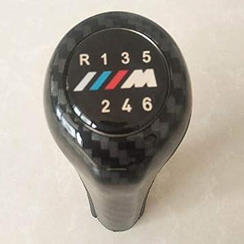 Globalflashdeal 6 Geschwindigkeit Kohlefaser Auto Schaltknauf Mit M Logo F/ür BMW 1 3 5 6 Series E30 E32 E34 E36 E38 E39 E46 E53 E60 E63 E83 E84