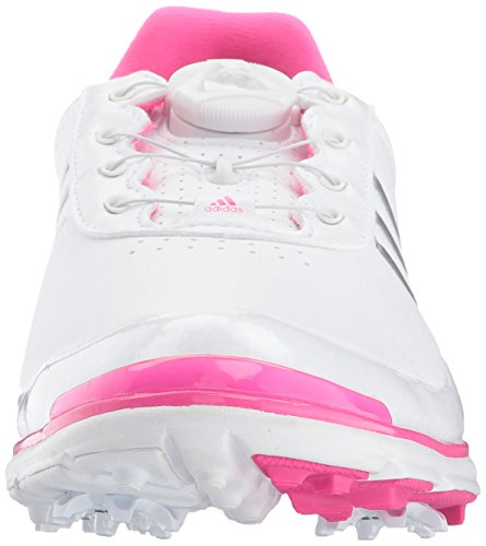 Pictures of adidas Women's Adistar Lite BOA Golf Q4497132 White/Silver Metallic/Shock Pink 6