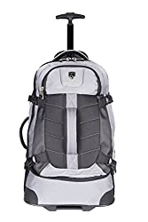 "Tprc 23"" Aeros Rolling Dual Tone Backpack With Laptop Compartment & Ez-glide Ball Bearing Wheels, Silver Color Option"