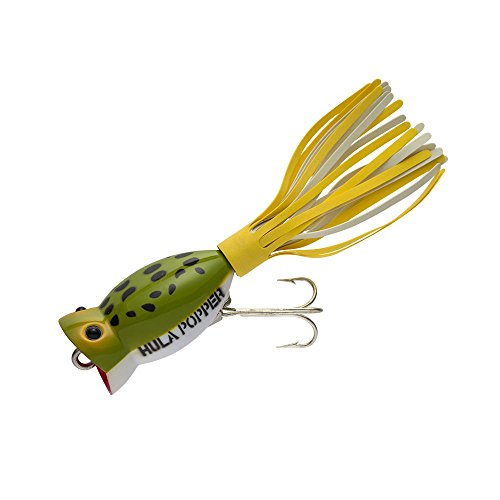 - Arbogast Hula Popper - Wounded Frog White Belly - 1 3/4