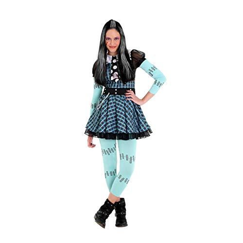 Frankie Xadrez Infantil Sulamericana Fantasias Fantasia Monster High Azul/preto Gg 14/16