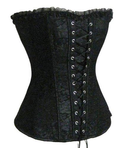 SZIVYSHI Corsage Kleid Mini Rock Petticoat (S, Schwarz)