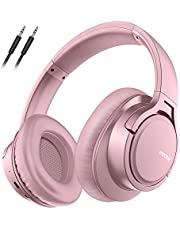Wireless Headphones Over Ear with HD Mic, 25H Wireless5.0 Headset, Stereo Foldable Headphones, Wired Wireless Headset Compatible with Cellphones/TV/PC