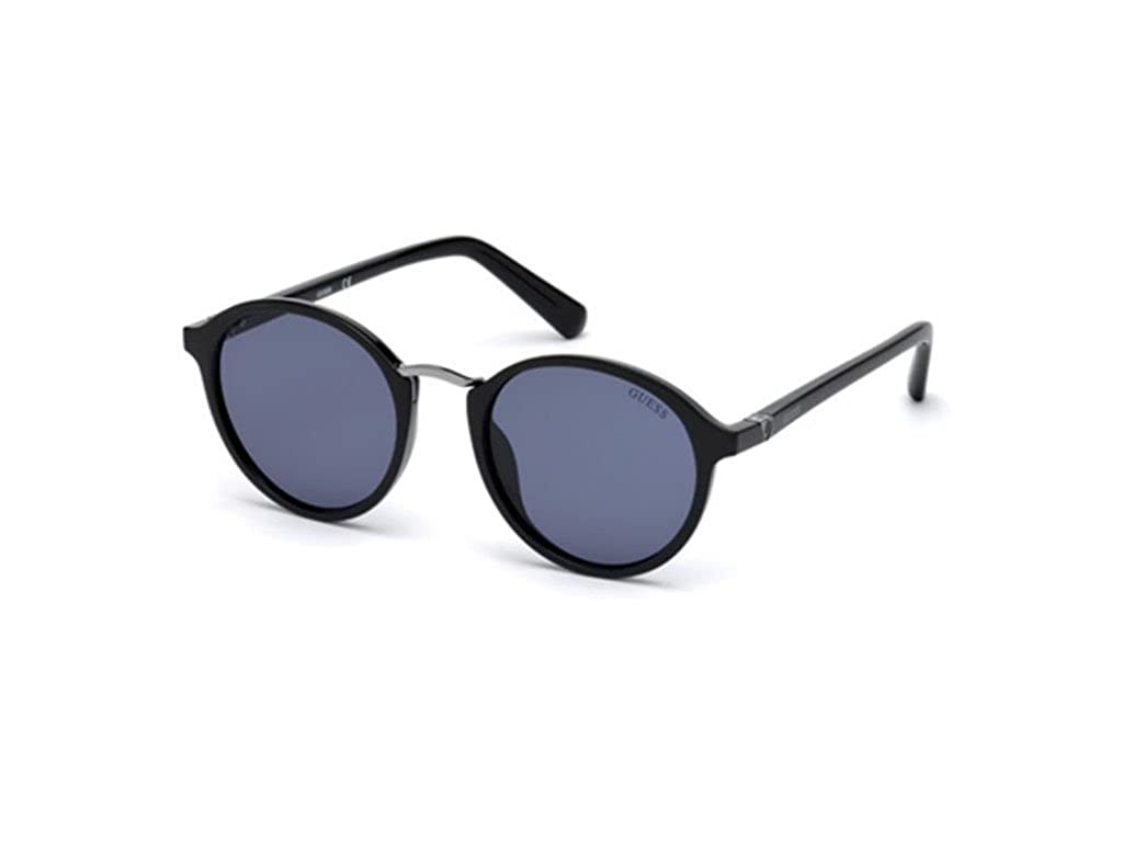 GUESS Unisex Adults' GU6932 01V 51 Sunglasses, Black (Nero Lucido/Blu)