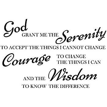 Amazon Com God Grant Me The Serenity Prayer Bible Art
