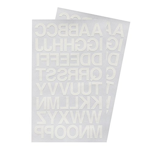 (Iron on 1-Inch Transfer White Letters - 2 Sheet (Black or White Optional))