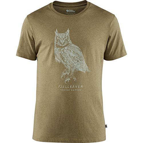 (Fjallraven - Men's Owl Print T-Shirt, Green, X-Large )
