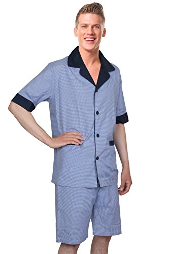 Benson&Brown Soft Woven Cotton Blend MEN SHORT PAJAMAS Sleepwear/Loungewear Set
