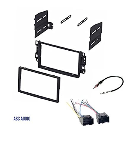 ASC Double Din Car Stereo Dash Kit, Wire Harness, Antenna Adapter to Install Radio for some Pontiac Chevrolet Vehicles - Compatible Vehicles Listed (Car Audio Aveo)