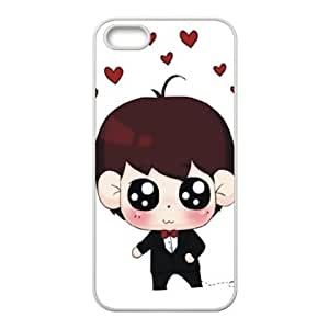 Color Print iPhone 5 5s back shell cover lovely boy