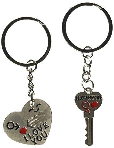 Generic Key to My Heart Cute Couple Keychain (BETY84944-F)