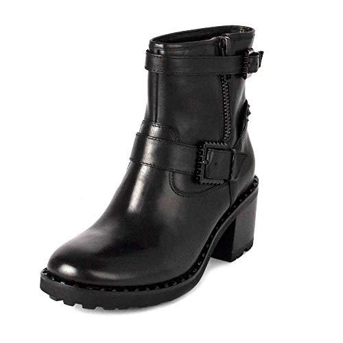 Con Xenon Ash Tachuelas Tacón Negro De 38 Cuero Bota Botas Mujer Negras Footwear CYq5wFxqnH