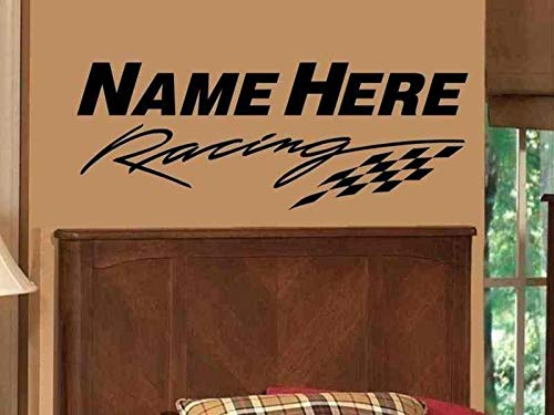 Checkered Flag Wall Decal Personalized Boys Name Wall for sale  Delivered anywhere in Canada