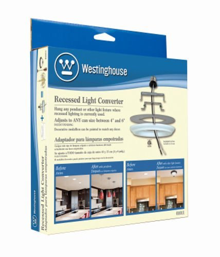 Westinghouse 01011 Recessed Can Light Converter for Hanging