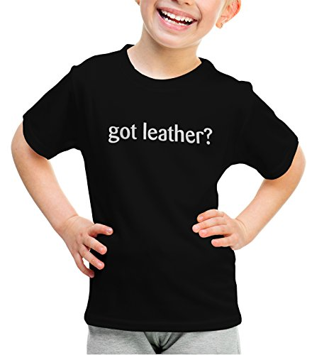 Leather Bke (shirtloco Girls Got Leather Youth T-Shirt, Black Extra Small)